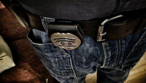 guard belt badge