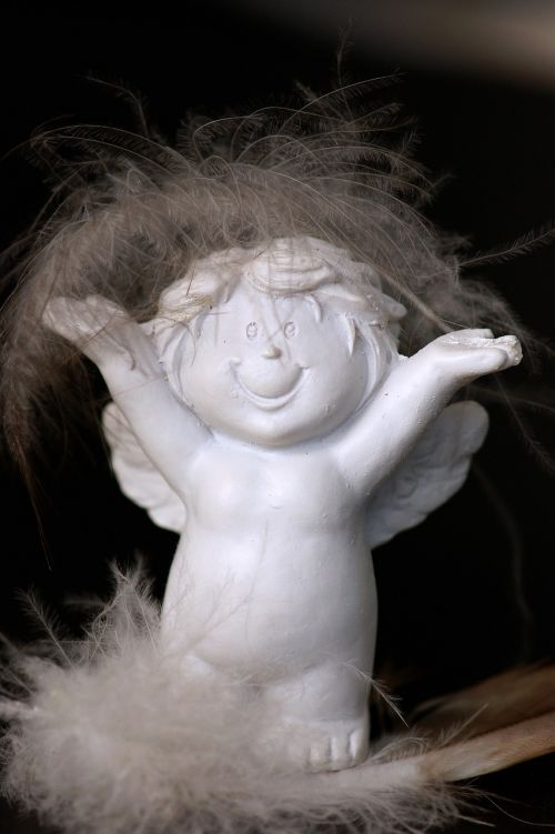 guardian angel cheerful white