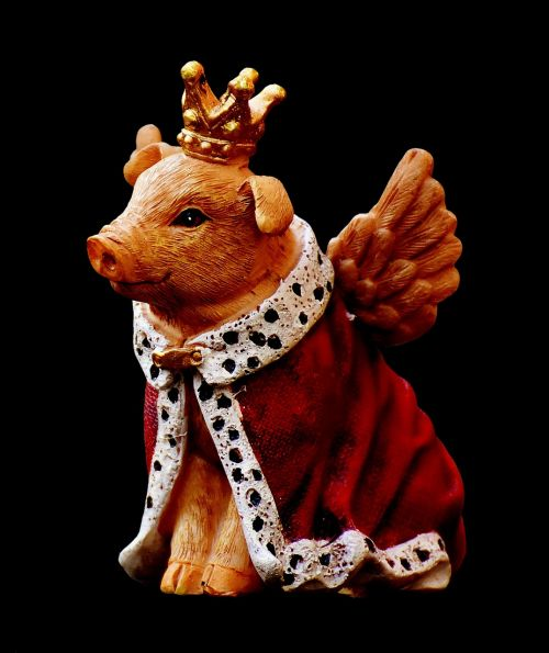 guardian angel piglet figure