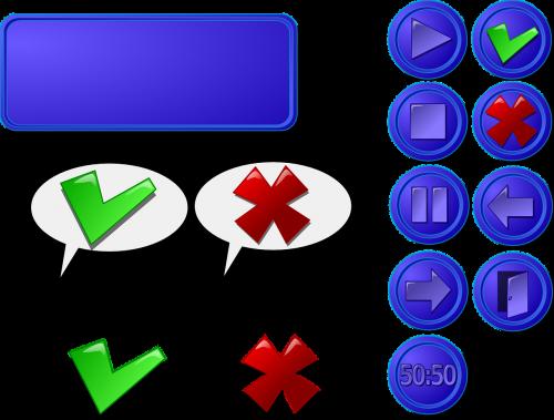gui buttons cross