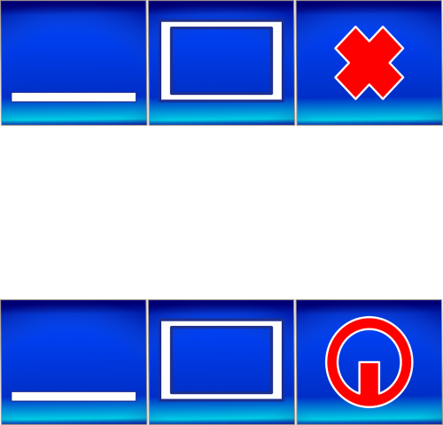 gui buttons interface