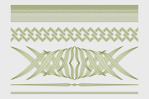 guilloche border decorative border