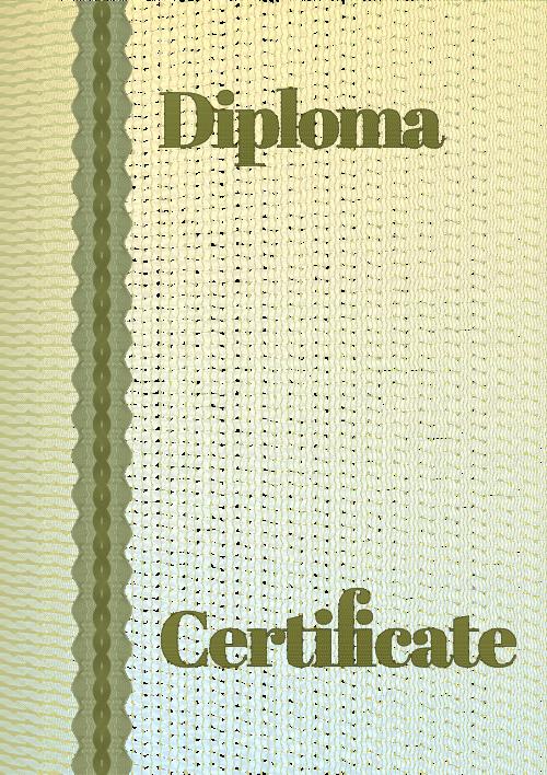guilloche border diploma