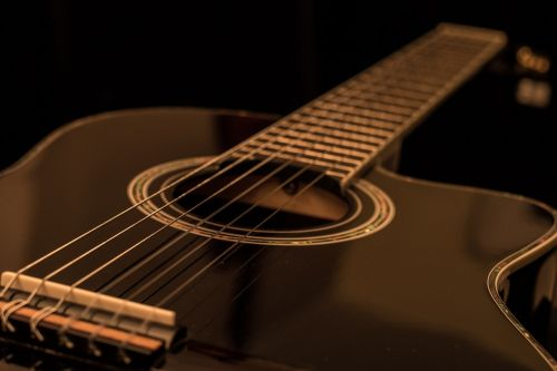 guitar acoustic black