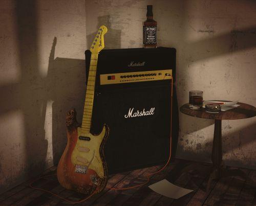 guitar speaker practice room