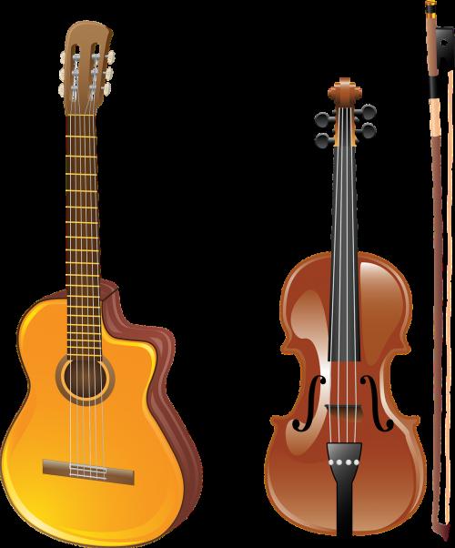 guitar violin bow