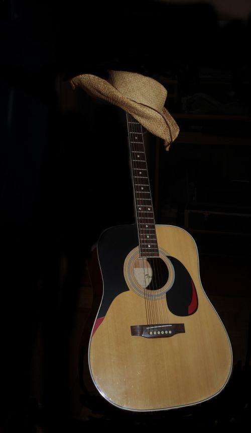 guitar hat westernhat