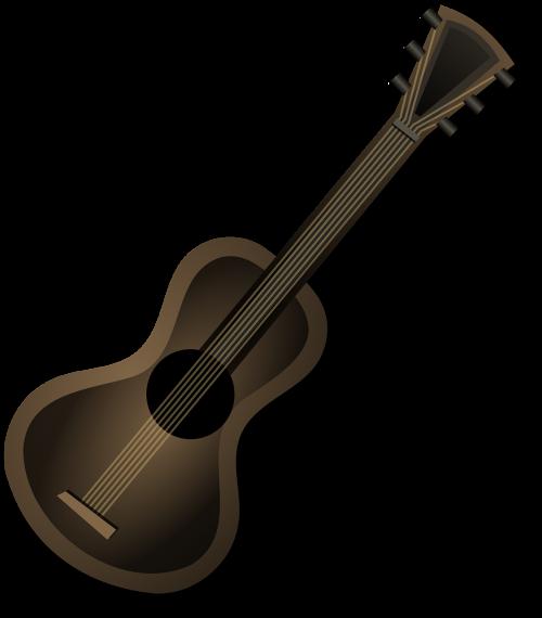 guitar acoustic brown
