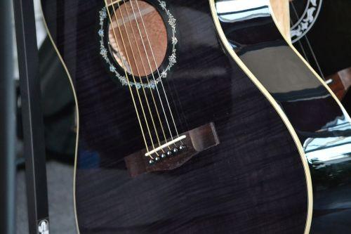guitar acoustic guitar black