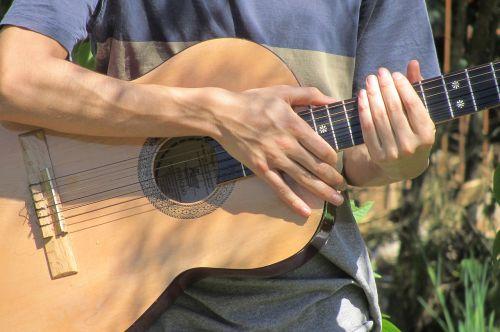 guitar hands instrument