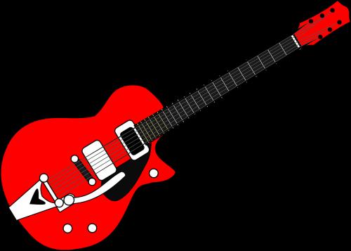 guitar red black