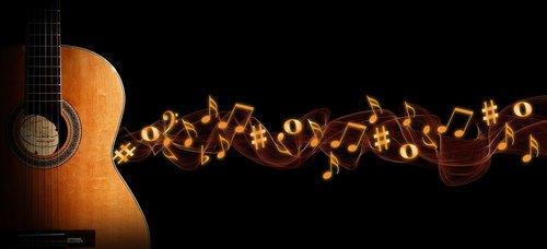 guitar  music  bokeh