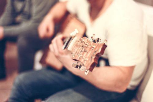 guitar guitar player man