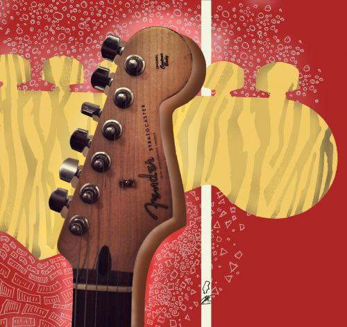 guitar stratocaster guitar head