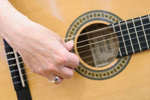 guitar finger hand