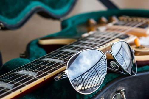 guitar aviator sunglasses