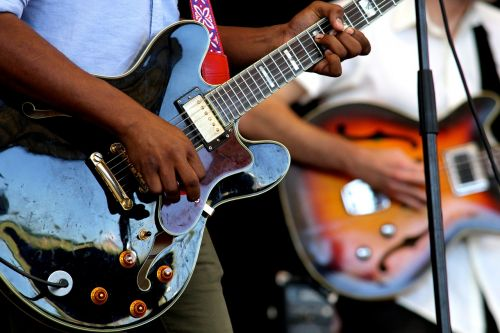 guitars instruments perform