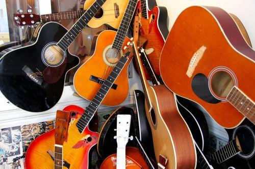 guitars musical instruments music