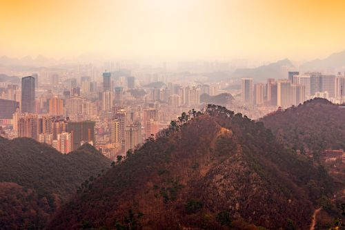 guiyang large luo ling a bird's eye view