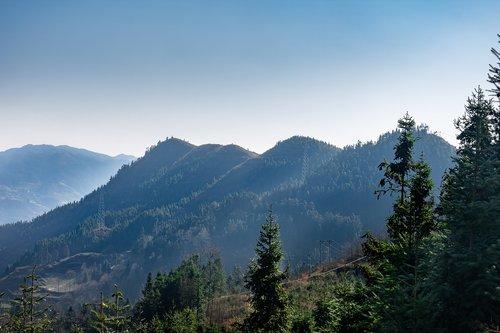 guizhou  mountain  on the slopes