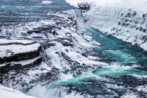 gulfoss waterfall icelandic