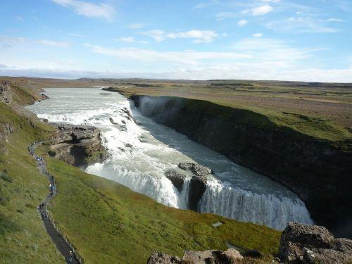 gullfoss waterfall river