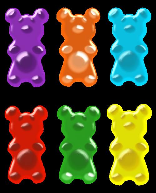 gummy bears purple