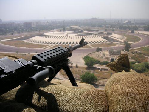 machine gun gun iraq