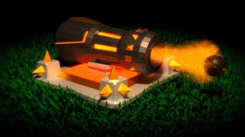 gun clash of clans mobile game