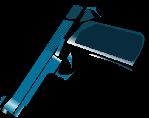 pistoletas,ginklas,metalinis,mėlynas,nukreipta žemyn,nemokama vektorinė grafika