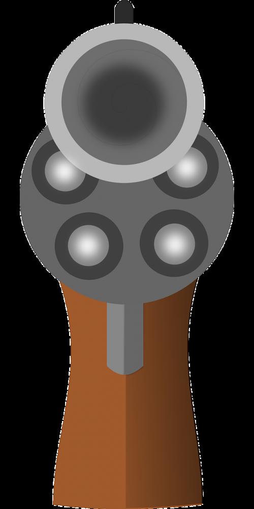 gun barrel pistol at gunpoint