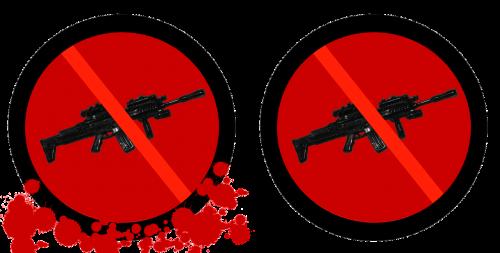 gun control sign weapon