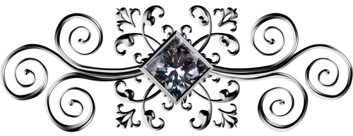 gunmetal square gem