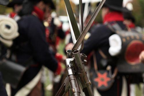 guns bayonets war