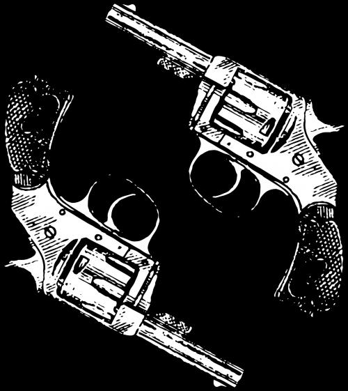 guns revolver two