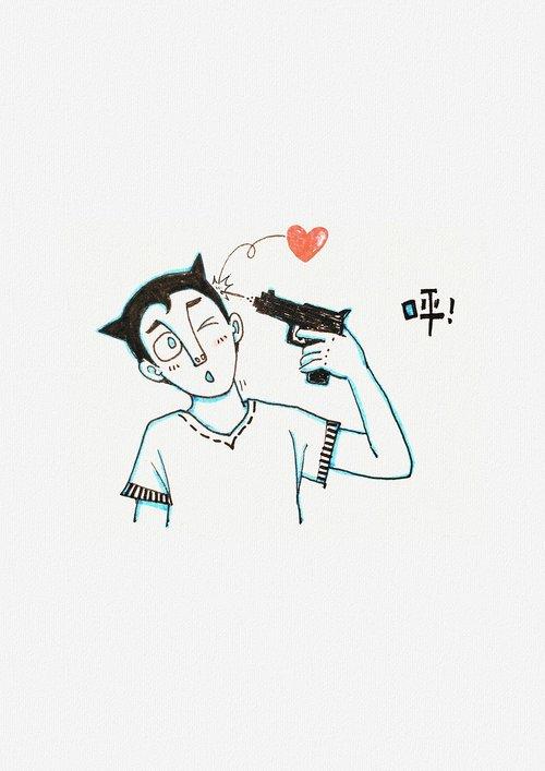guns  bullets  hearts