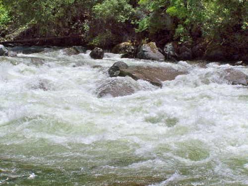 gushing water river stream