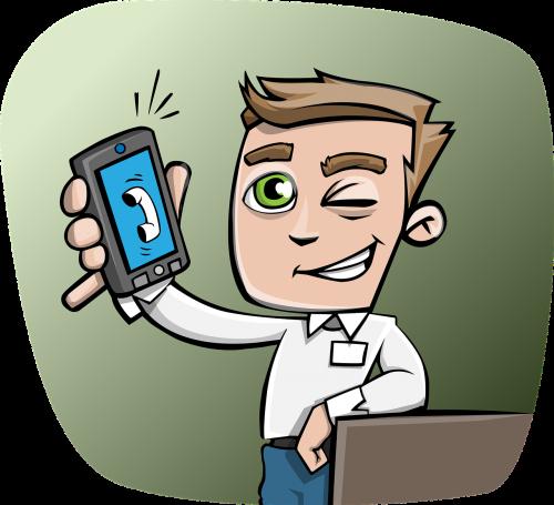 guy phone smartphone