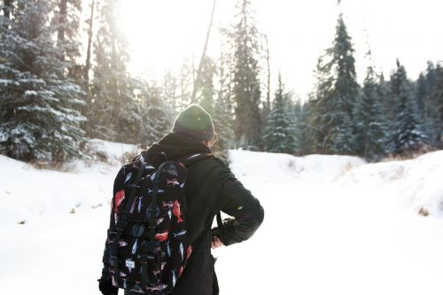 guy toque backpack