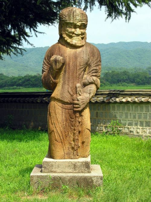 gwaereung stone statue korea