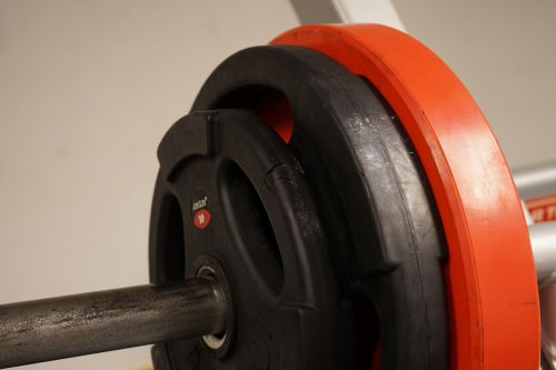 weights red dumbbells