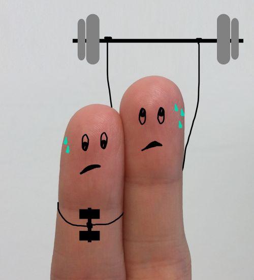 gym weights toil