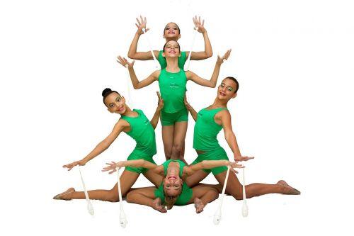 gym girls rhythmic gymnastics
