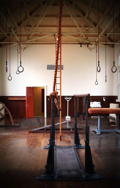 gymnasium historic gym old fashioned