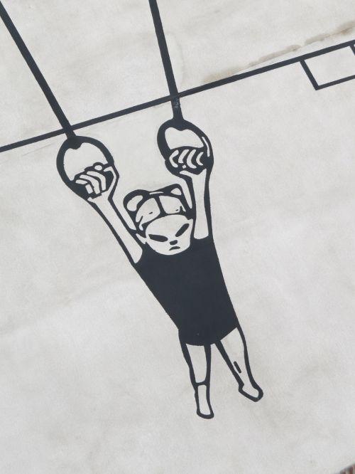 gymnastics murals rings