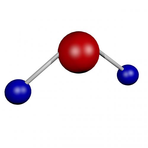 h2o water molecule