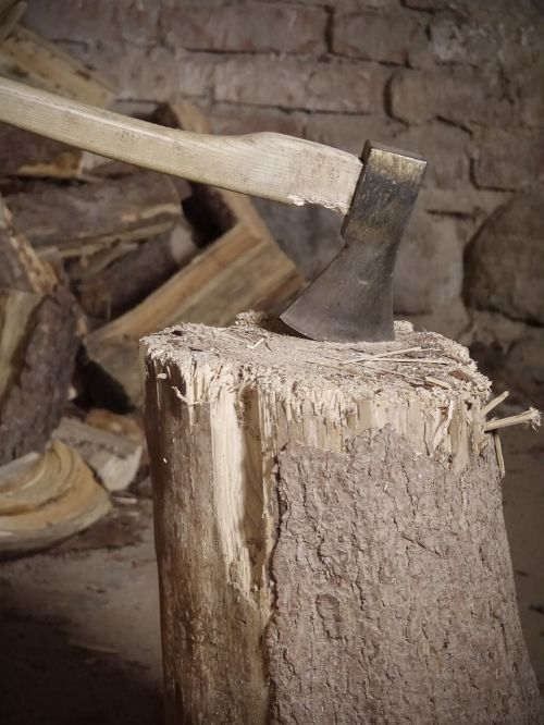 hack stock wood ax