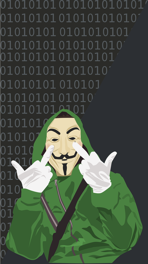 hacker  anonymous  green