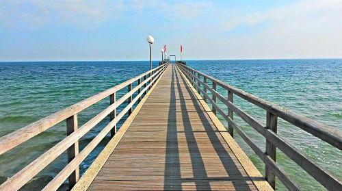 haffkrug sea bridge baltic sea