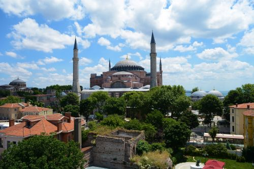 hagia sofia sultanahmet and from the hotel